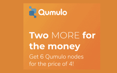 Two MORE for the Money. Get 6 Qumulo nodes for the price of 4!